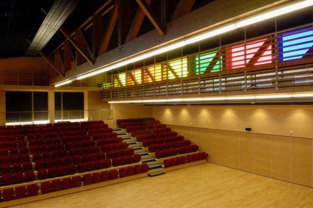 Intérieur Batîment Bois Atrium
