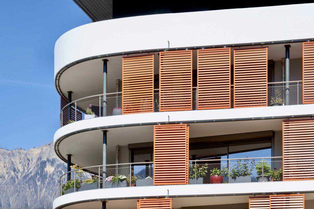 Bâtiment le Kristal - Albertville, Savoie - balcons