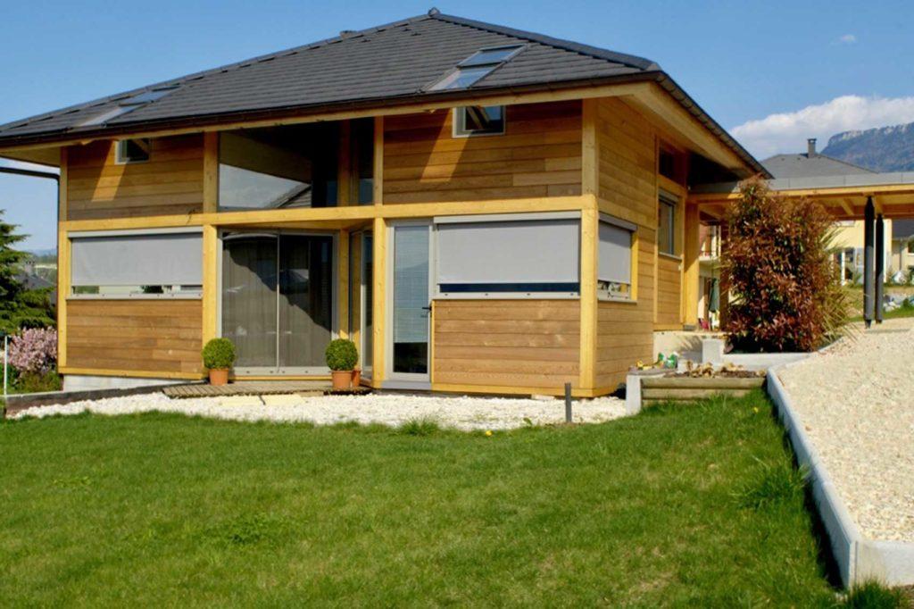 Maison Bois Aix Les Bains - jardin