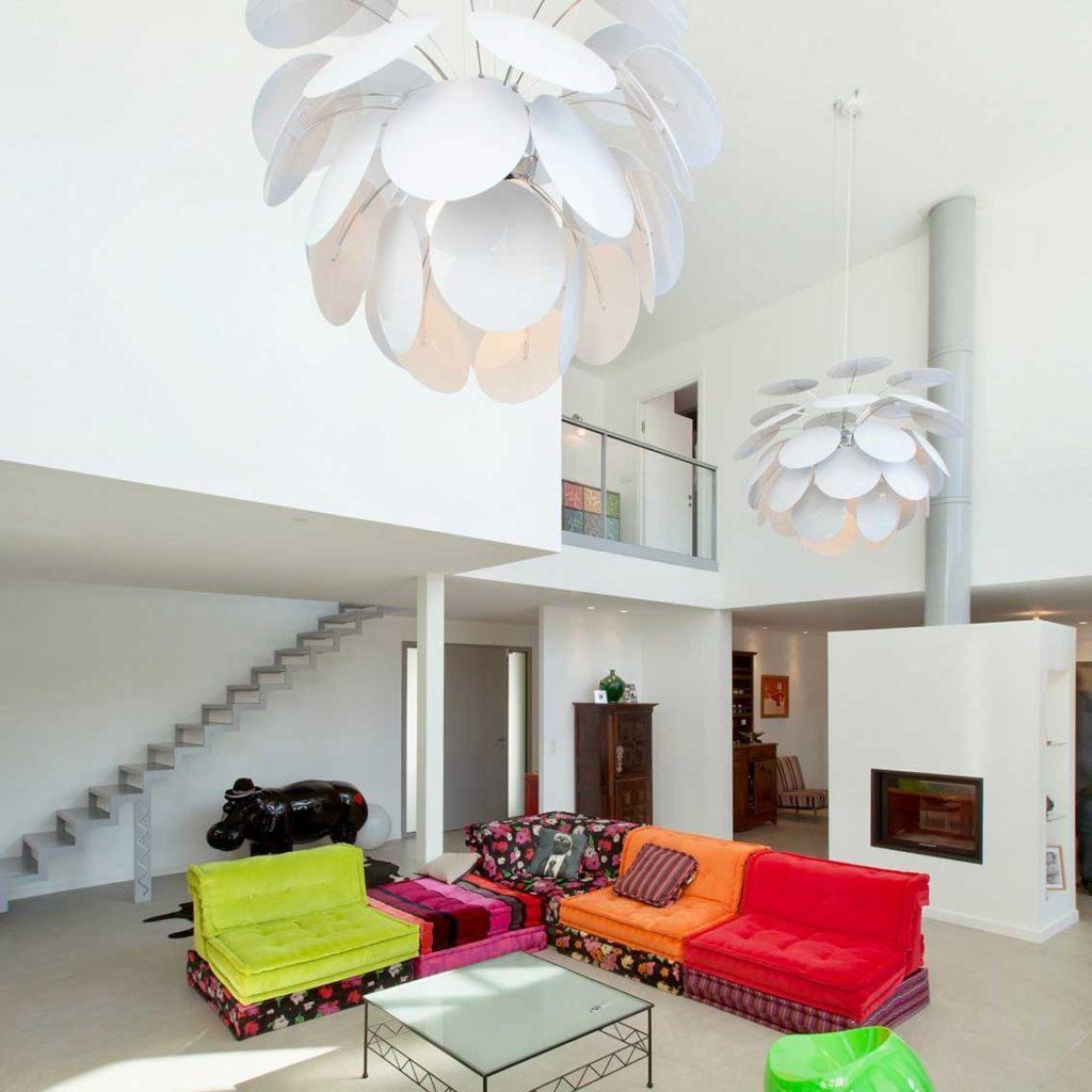 Maison Bois Design Ecully - séjour
