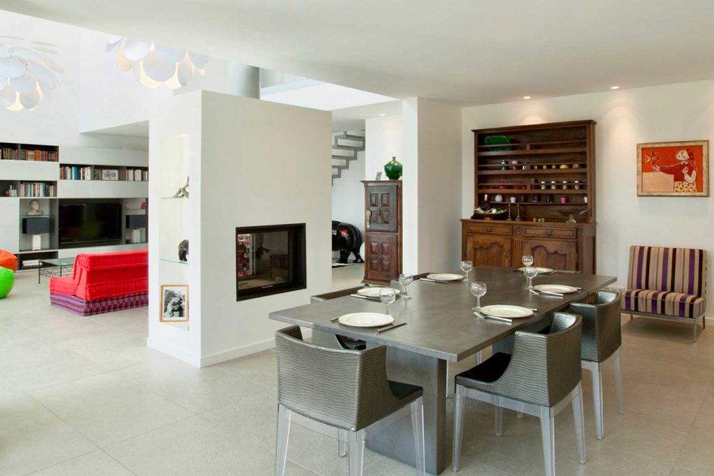 Maison Bois Design Ecully - salle à manger