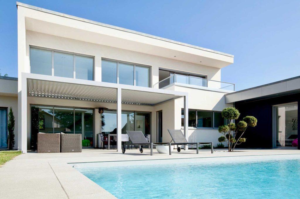 Maison Bois Design Ecully - terrasse