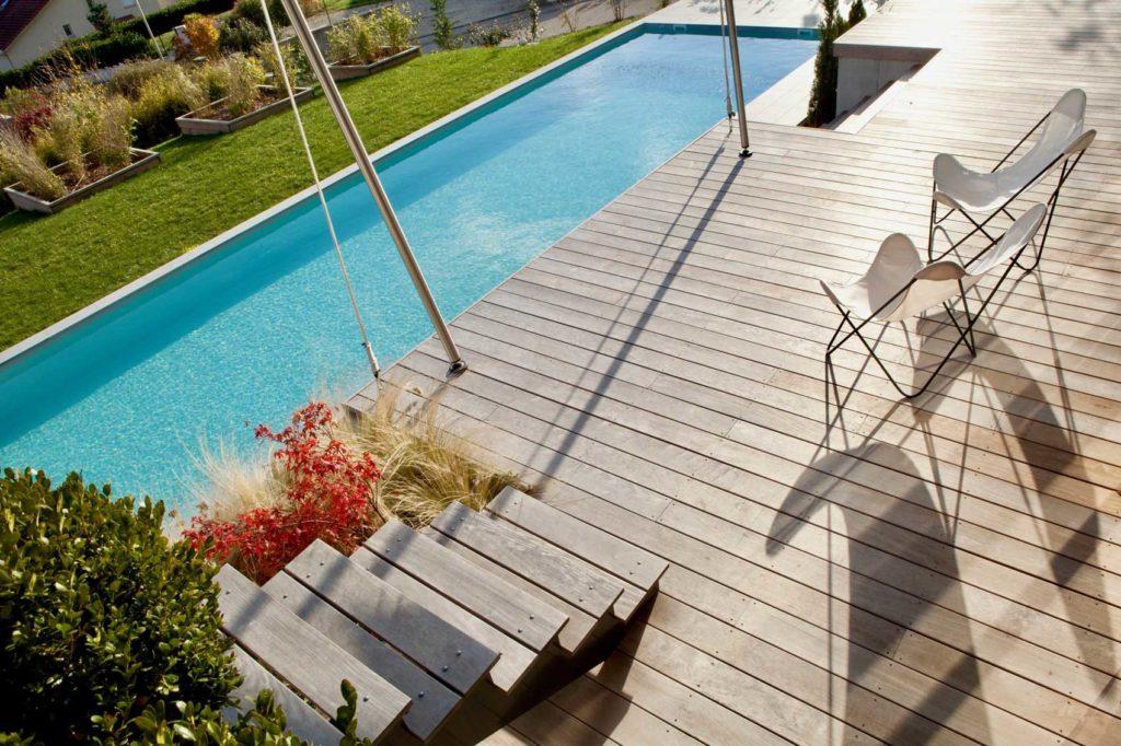 Maison Bois Laureate St Ismier - terrasse piscine