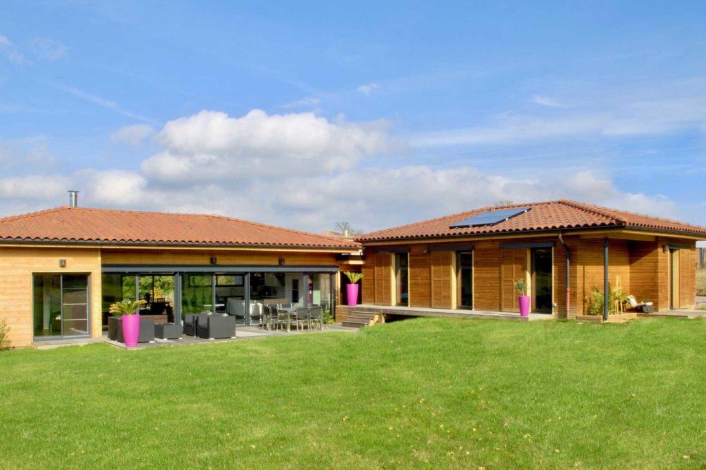 Maison Bois Lissieu - jardin