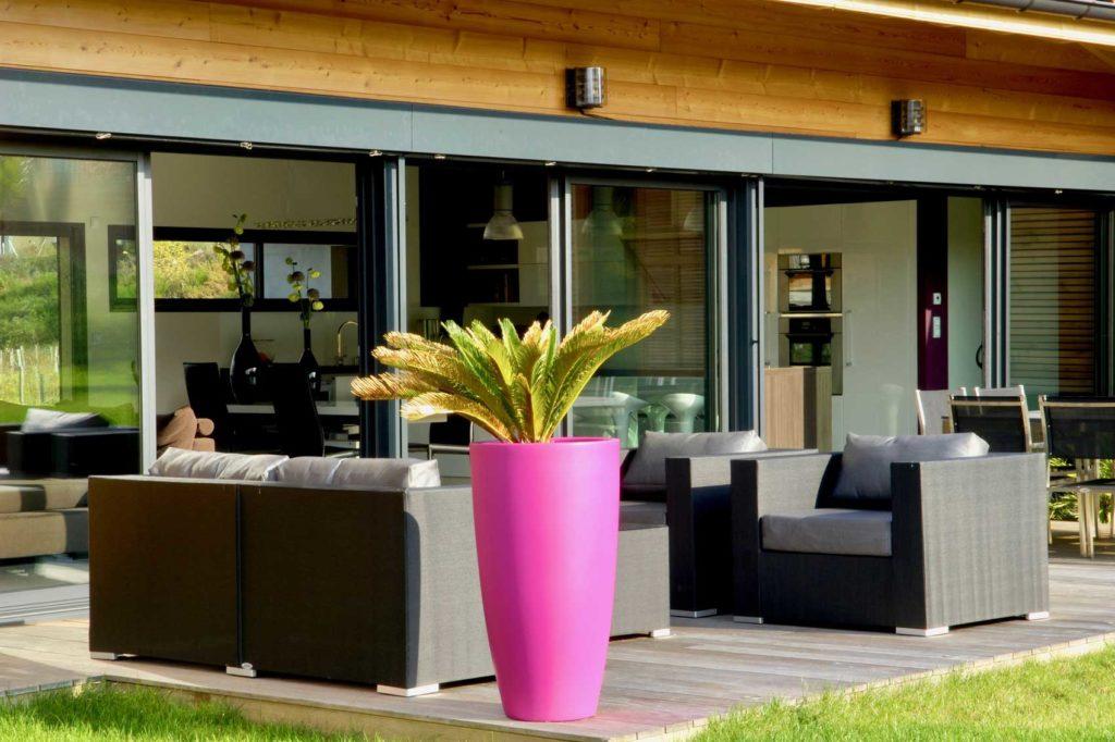 Maison Bois Lissieu - salon de jardin