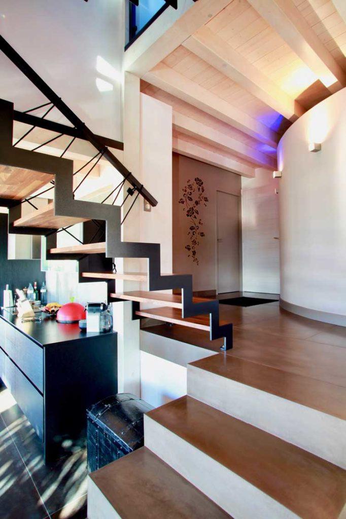 Maison Bois Mery - escalier