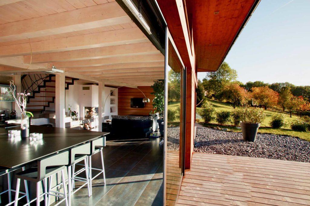 Maison Bois Mery - ouverture