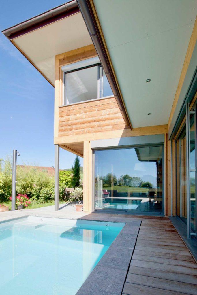 Maison Bois Poisy - baies vitrées