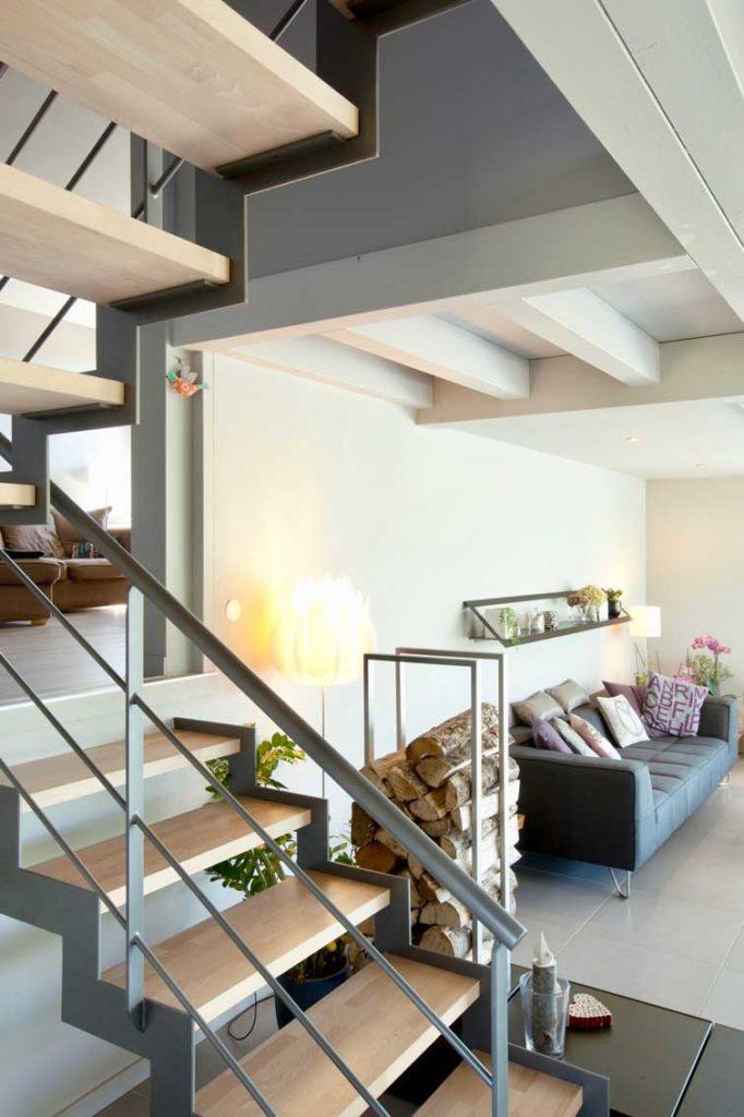 Maison Bois Poisy - escaliers