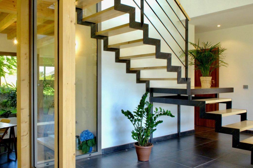 Maison Bois Prevessin Moens - escalier