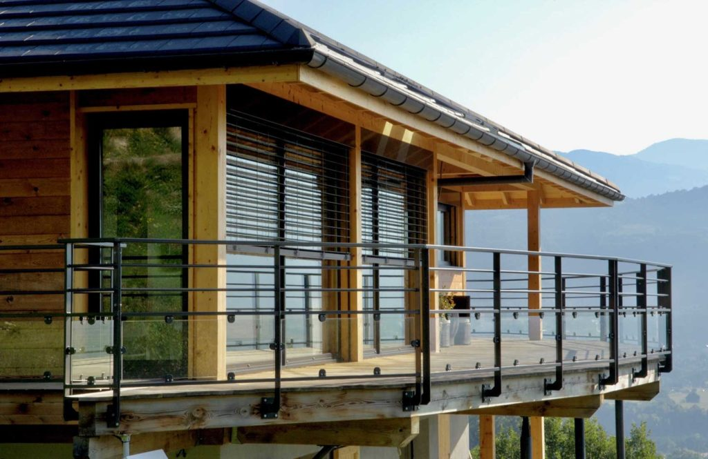 Maison Bois Saint Baldoph - balcon