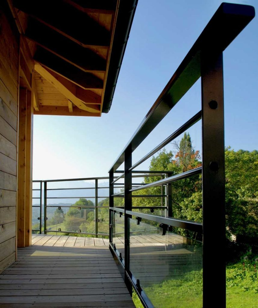 Maison Bois Saint Baldoph - terrasse