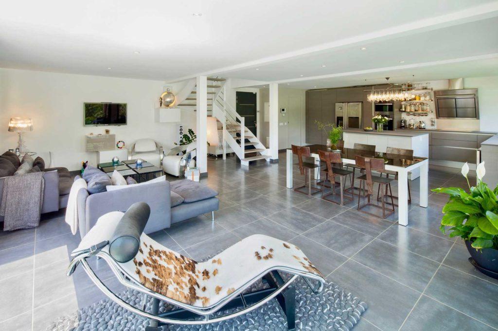 Maison Bois Verrens Arvey Savoie - séjour