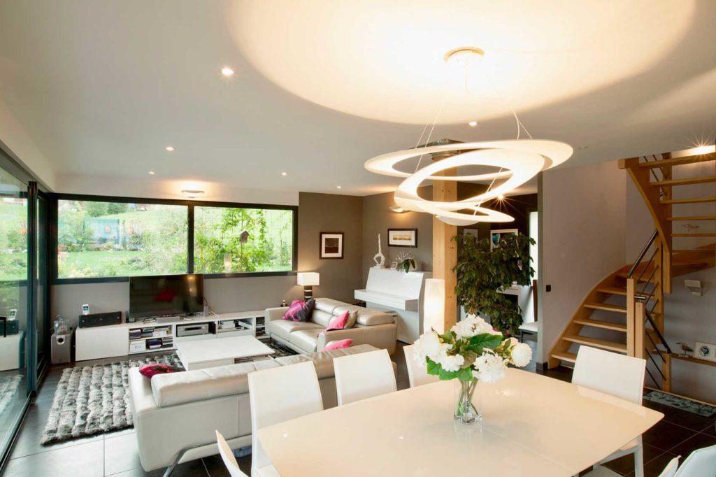 Maison Bois Verrens Arvey - séjour