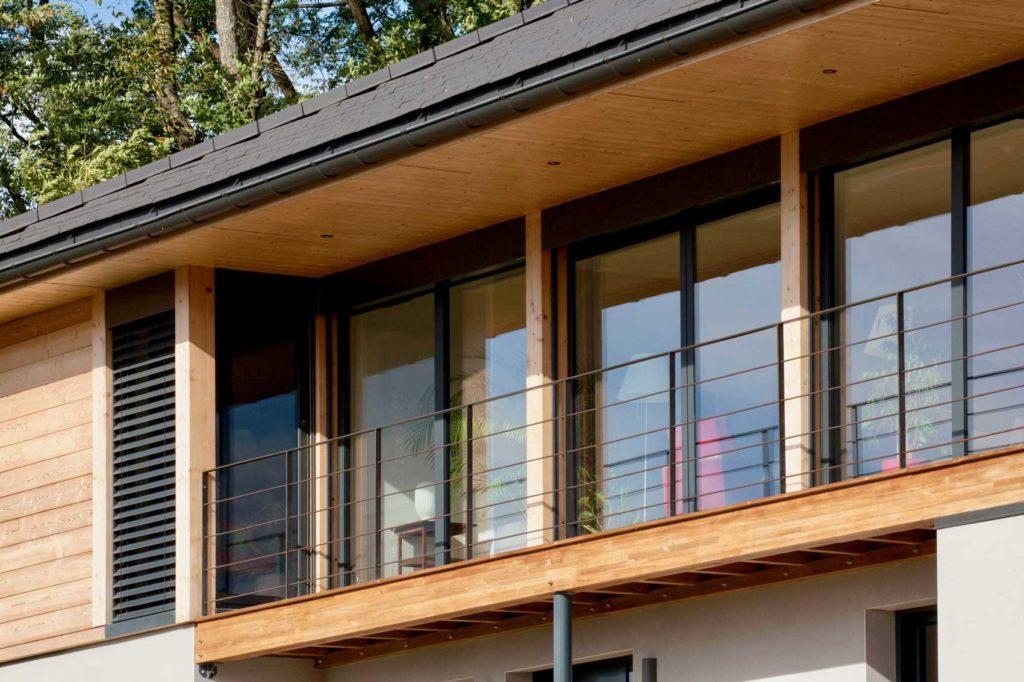 Maison Bois Vetraz Monthoux - balcon