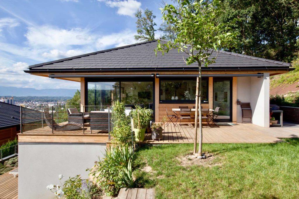Maison Bois Vetraz Monthoux - terrasse