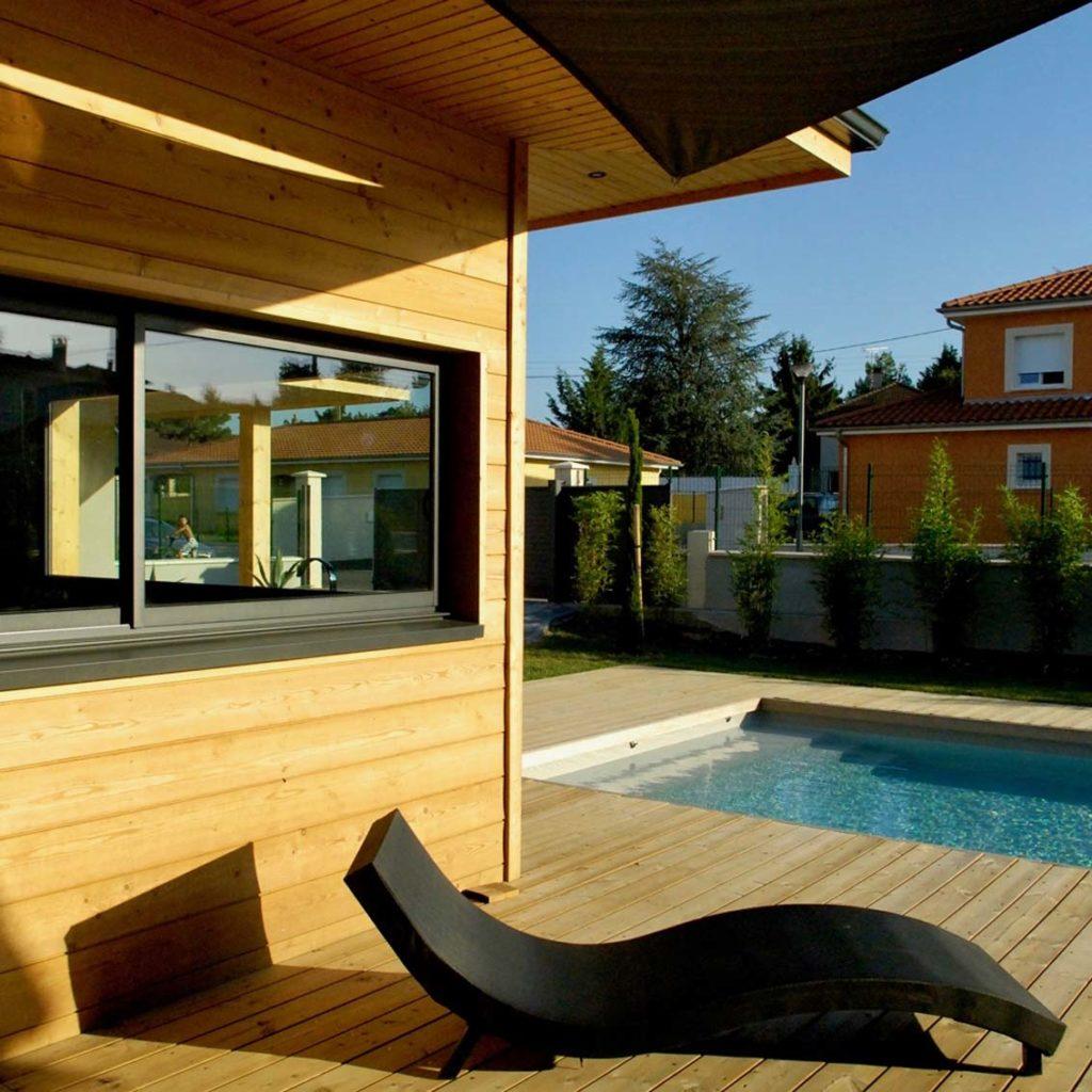 Maison Bois Villette d'Anthon - terrasse bois