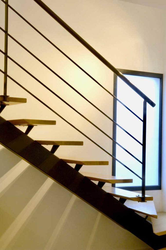 Maison bois Ecully - escaliers