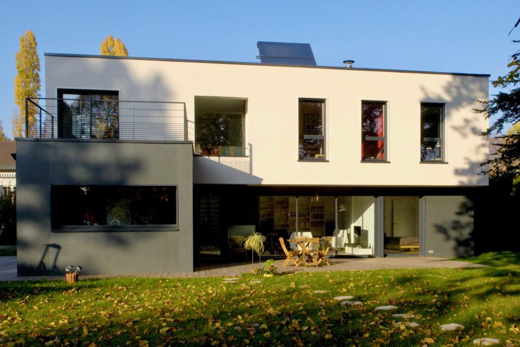 Maison bois Ecully - facade