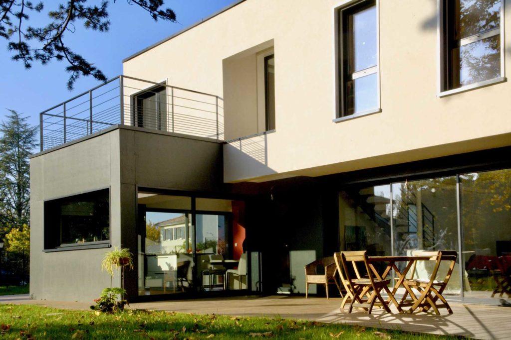 Maison bois Ecully - terrasse