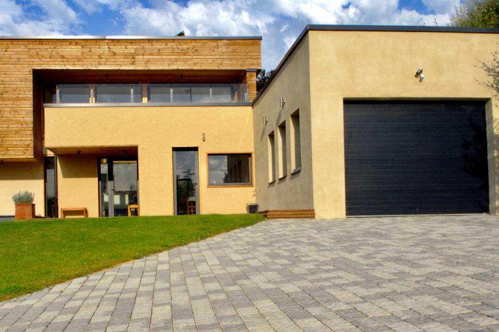 Maison bois St Cyr au Mont d'Or - garage