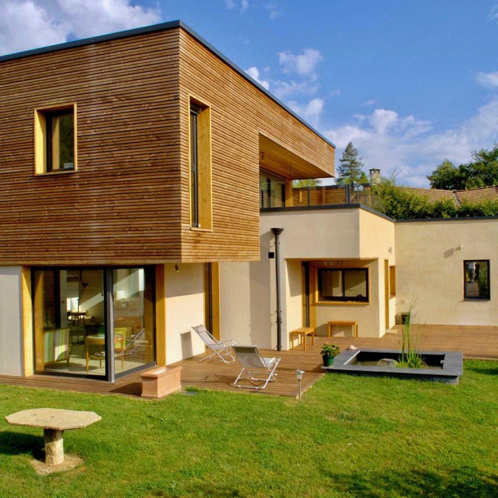Maison bois St Cyr au Mont d'Or - jardin