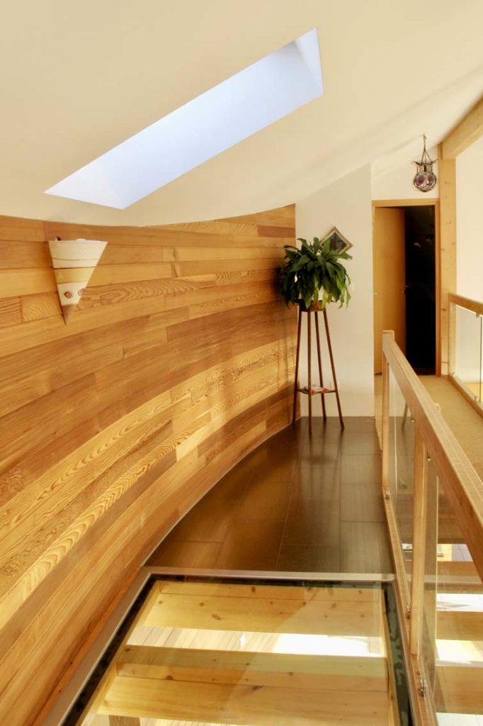 Maison bois Tresserve -couloir