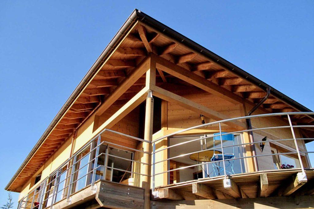 Maison bois Tresserve - descente toiture