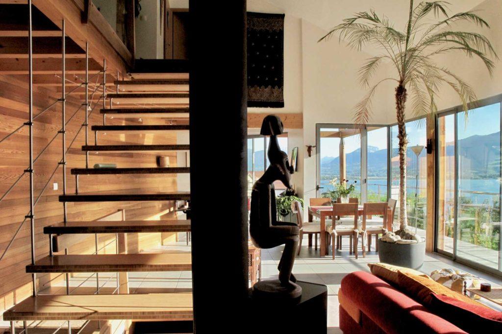 Maison bois Tresserve -escalier