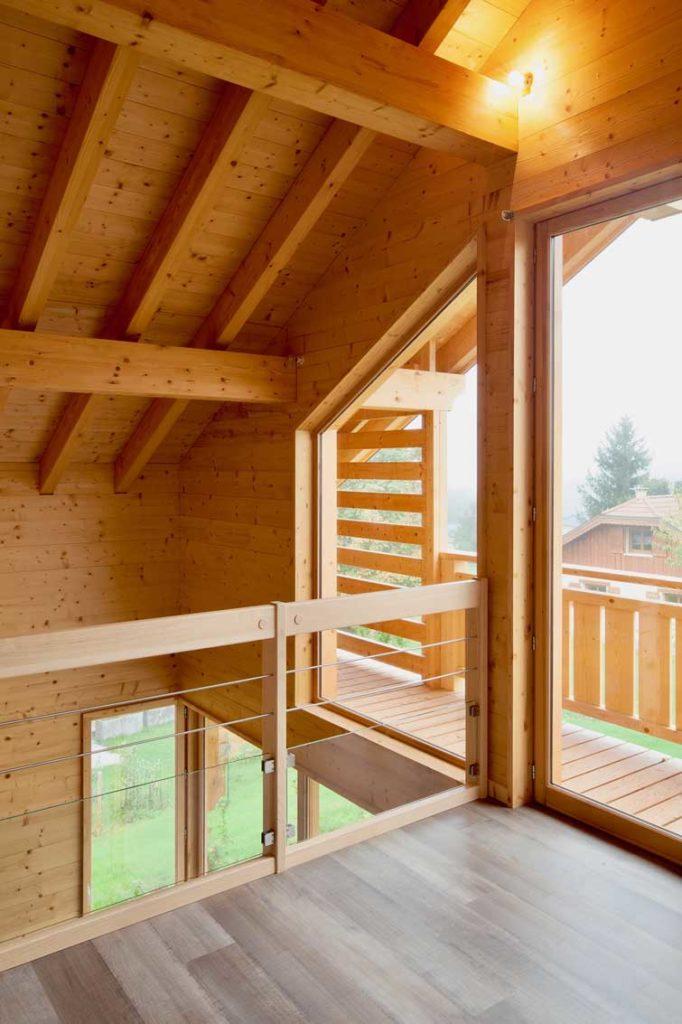 Maison bois châlet Verrens Arvey - étage