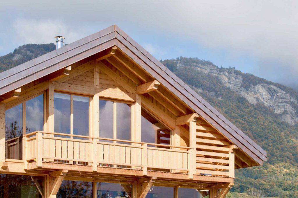 Maison bois châlet Verrens Arvey - balcon