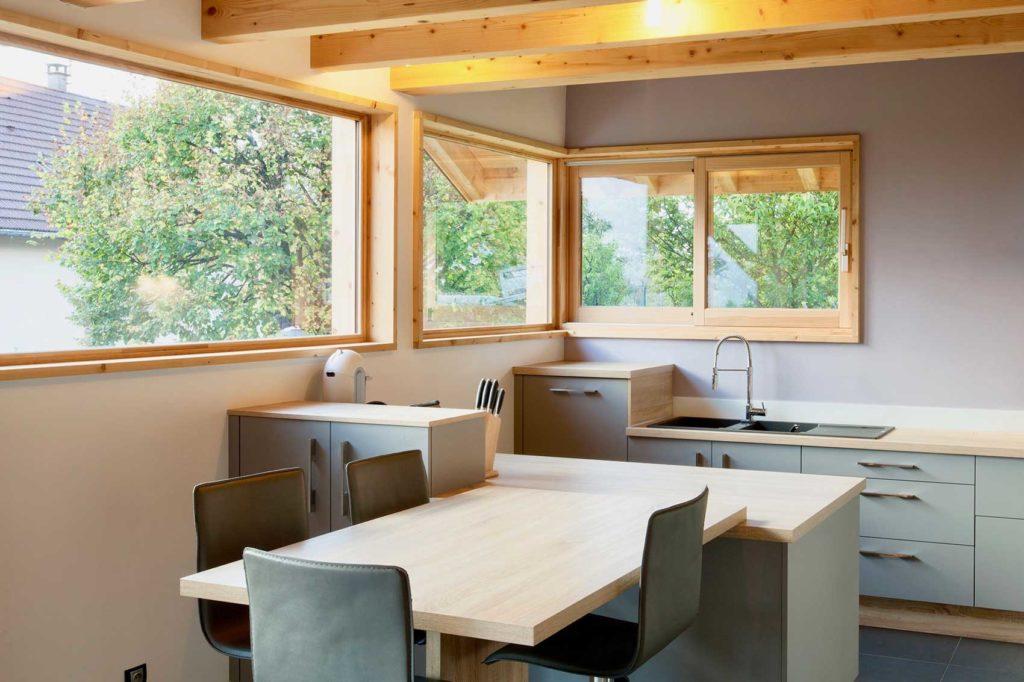 Maison bois châlet Verrens Arvey - cuisine