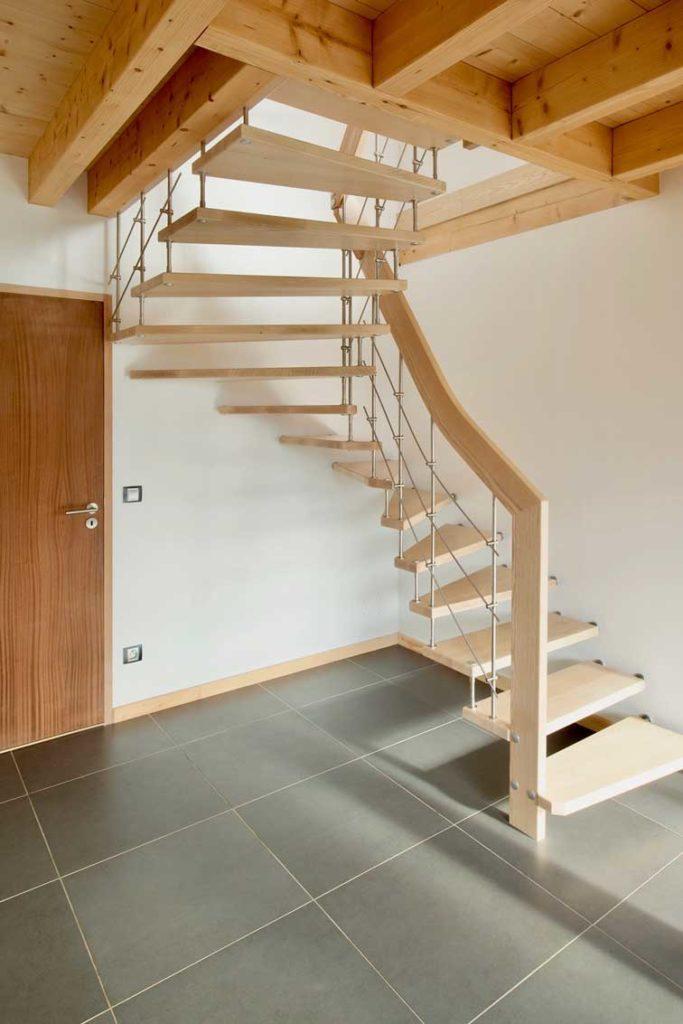 Maison bois châlet Verrens Arvey - escalier