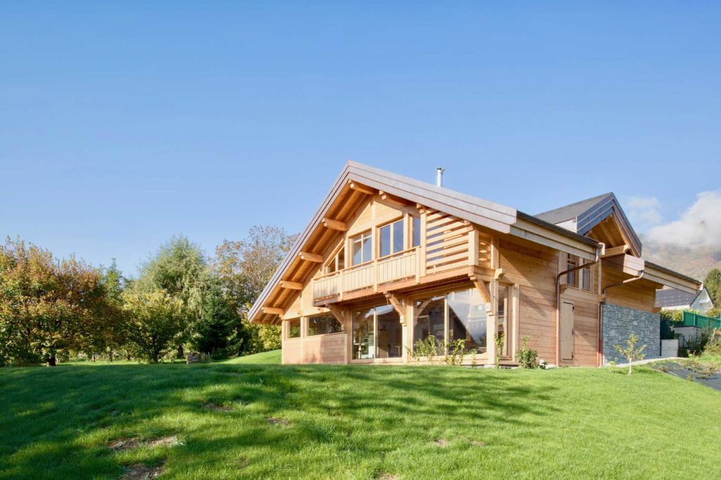 Maison bois châlet Verrens Arvey - jardin