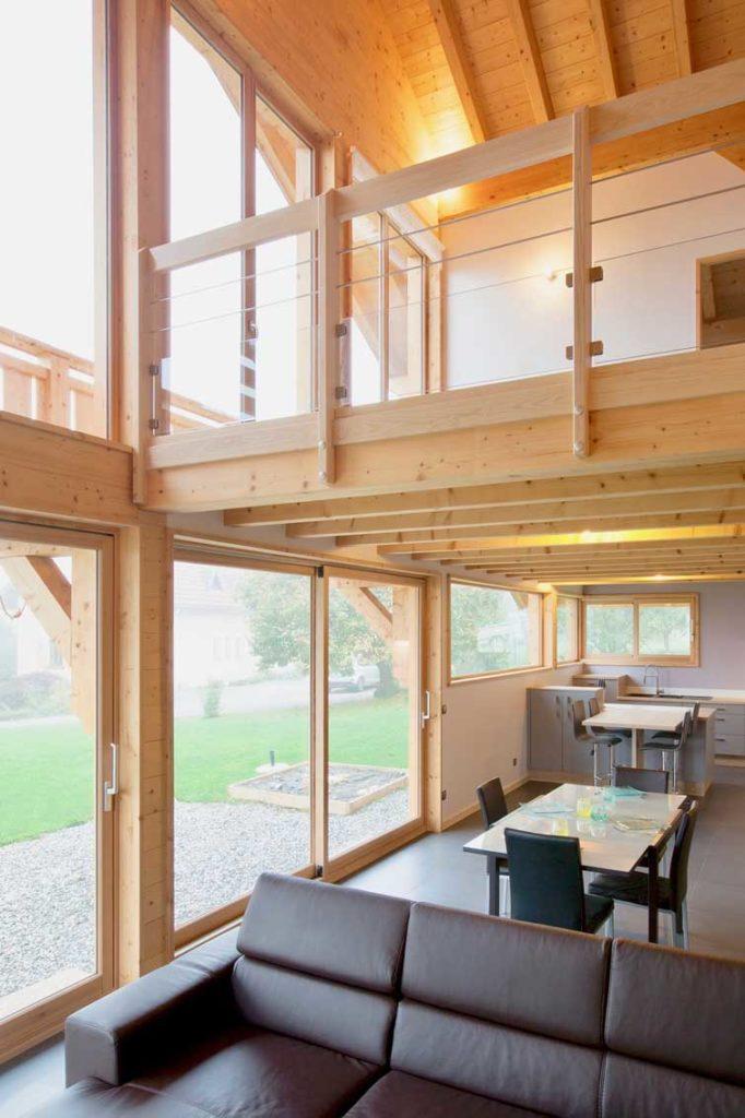 Maison bois châlet Verrens Arvey -mezzanine