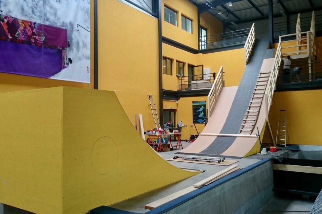Tremplin - Centre de ski d'Albertville - construction