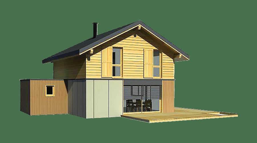 maison bois 2 pans