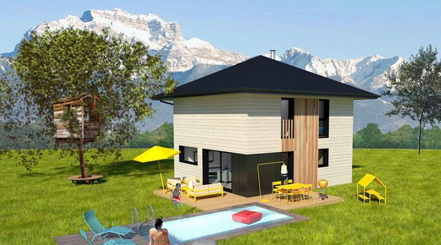 Découvrez la maison en ossature bois à 4 pans d'Itinéraires Bois