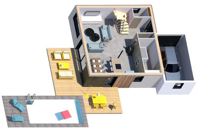 maison-bois-modules-supplémentaires-garage