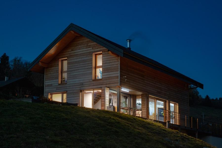 Maison-bois-le bourget en huile-Savoie